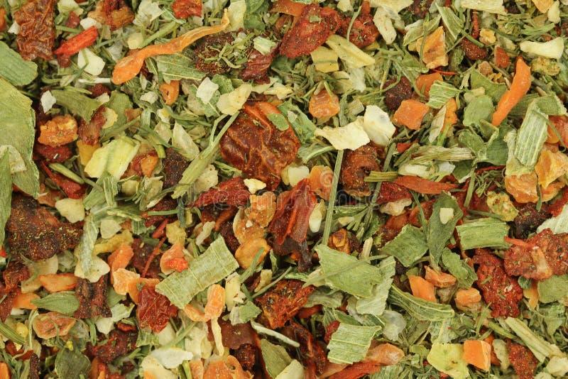 mezclas del condimento de fondo de las verduras secadas imágenes de archivo libres de regalías