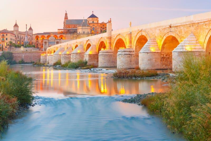 Mezquita και ρωμαϊκή γέφυρα στην Κόρδοβα, Ισπανία στοκ φωτογραφίες με δικαίωμα ελεύθερης χρήσης