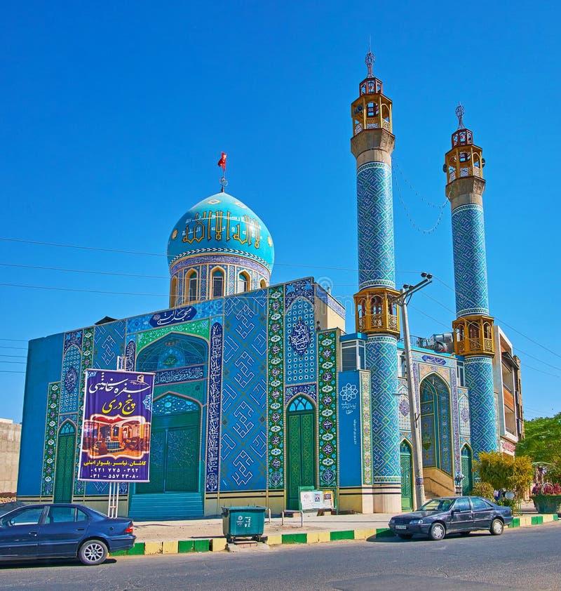 Mezquita adornada de Nabawi en Kashan, Irán fotografía de archivo libre de regalías