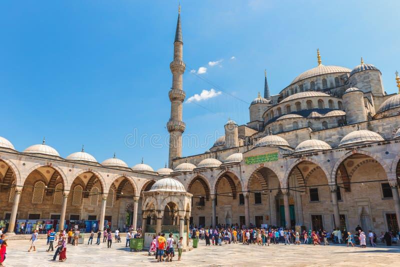 Mezquita azul fotografía de archivo