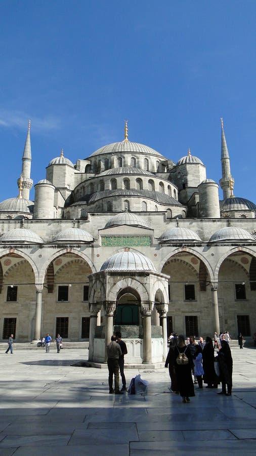 Mezquita azul del ahmet del sultán, Estambul en pavo foto de archivo