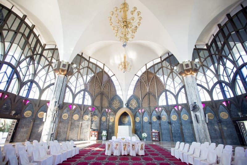 Mezquita central interior de Bangkok, Tailandia fotografía de archivo