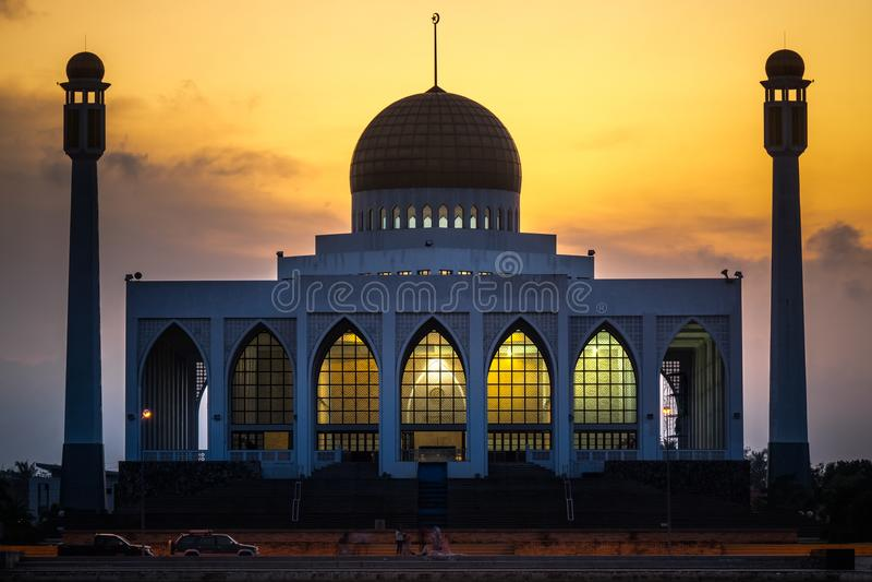 Mezquita central, provincia de Songkhla, meridional de Tailandia imagen de archivo libre de regalías