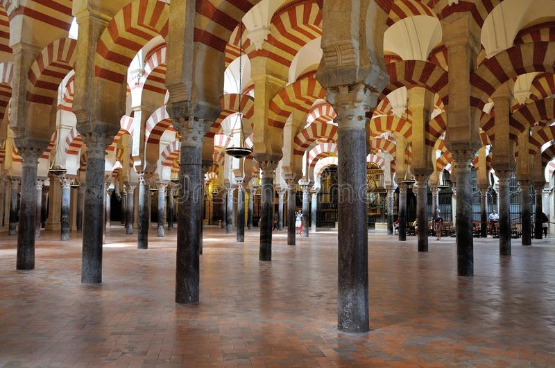 Mezquita of Cordoba. The Mezquita (Spanish for mosque) of Cordoba is a Roman Catholic cathedral and former mosque situated in the Andalusian city of Córdoba stock photography