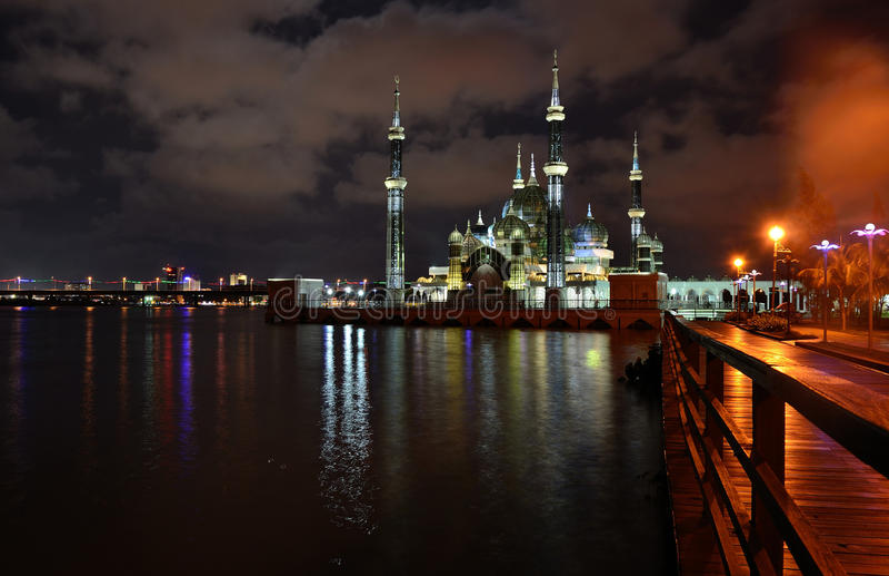 Mezquita cristalina imagen de archivo