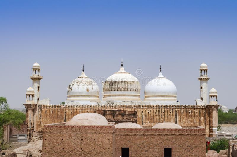 Mezquita de Abbasi Jamia cerca del fuerte Bahawalpur Paquistán de Derawar foto de archivo
