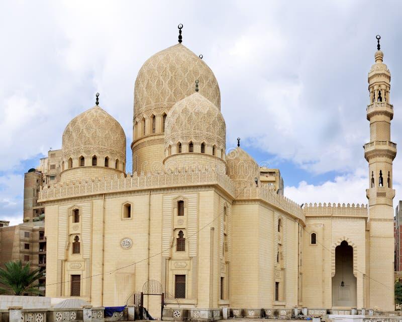 Mezquita de Abu El Abbas Masjid, Alexandría, Egipto. foto de archivo