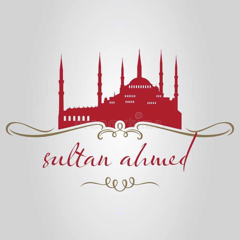 Mezquita de Ahmed del sultán de Estambul ilustración del vector