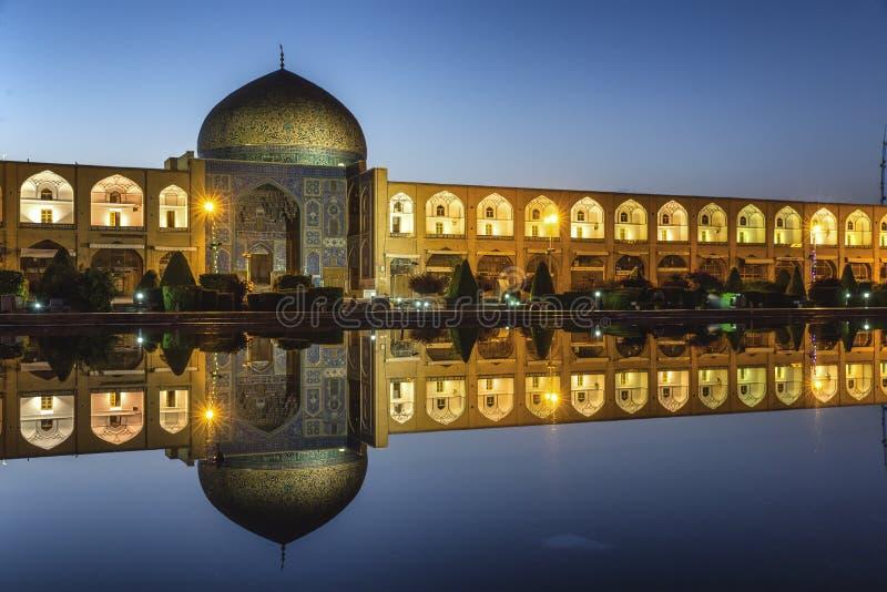 Mezquita de Alá del lotf del jeque en Isfahán Irán imagen de archivo libre de regalías