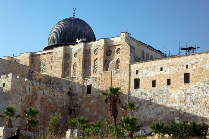 Mezquita de Aqsa del Al en Jerusalén imagenes de archivo