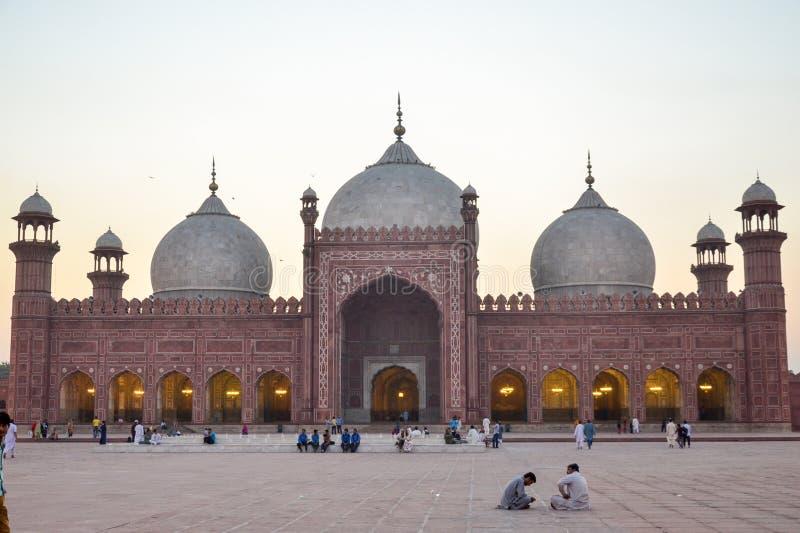 Mezquita de Badshahi, Lahore, Punjab, Paquistán fotografía de archivo