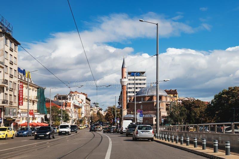 Mezquita de Banya Bashi en Sofía, Bulgaria imagen de archivo libre de regalías