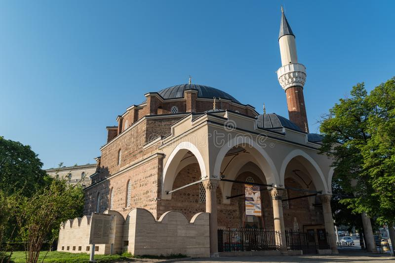 Mezquita de Banya Bashi en Sof?a bulgaria fotografía de archivo