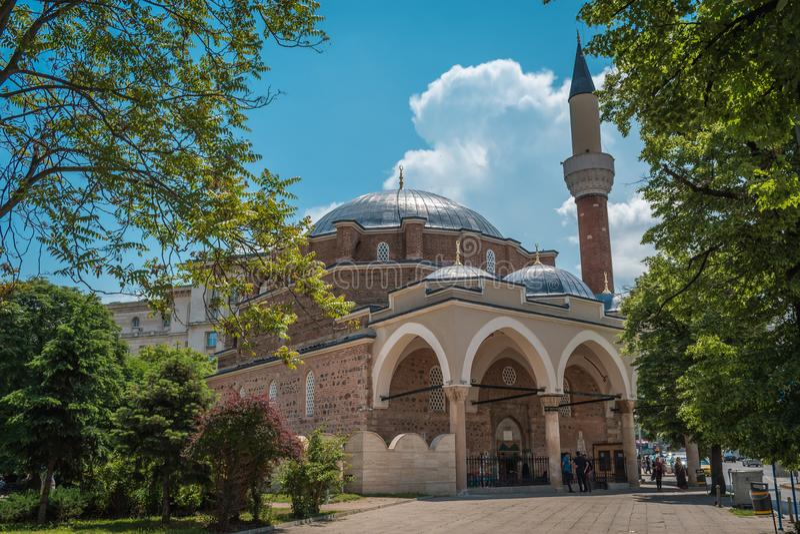 Mezquita de Banya Bashi, Sofía, Bulgaria fotografía de archivo libre de regalías