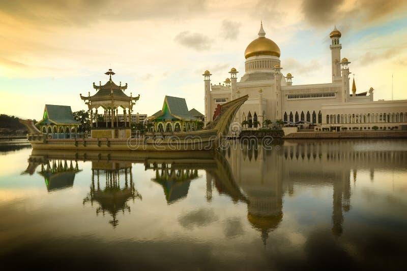 Mezquita de Brunei foto de archivo