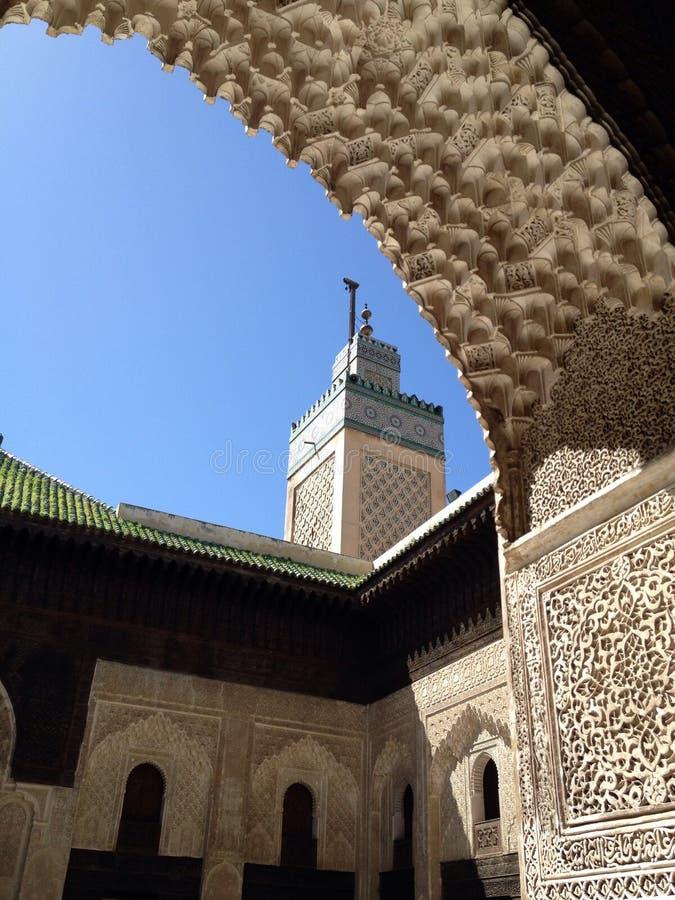 Mezquita de Fes foto de archivo