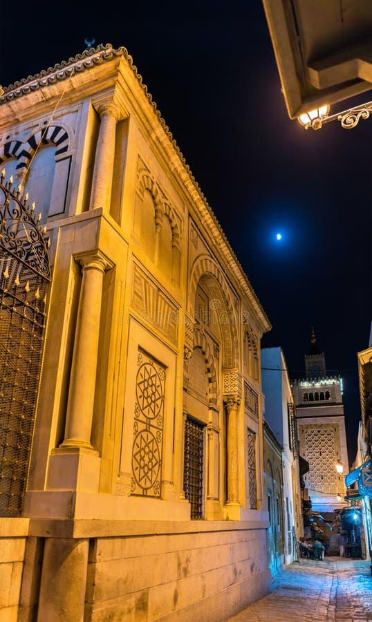 Mezquita de Hammouda Pacha en Medina de Túnez, Túnez foto de archivo libre de regalías