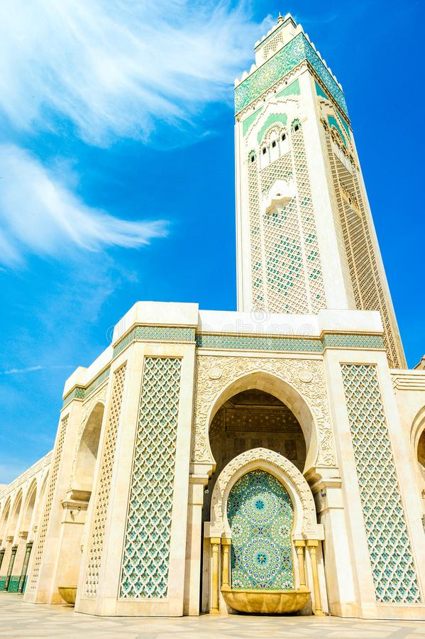 Mezquita de Hassan II, Casablanca, Marruecos, África foto de archivo libre de regalías