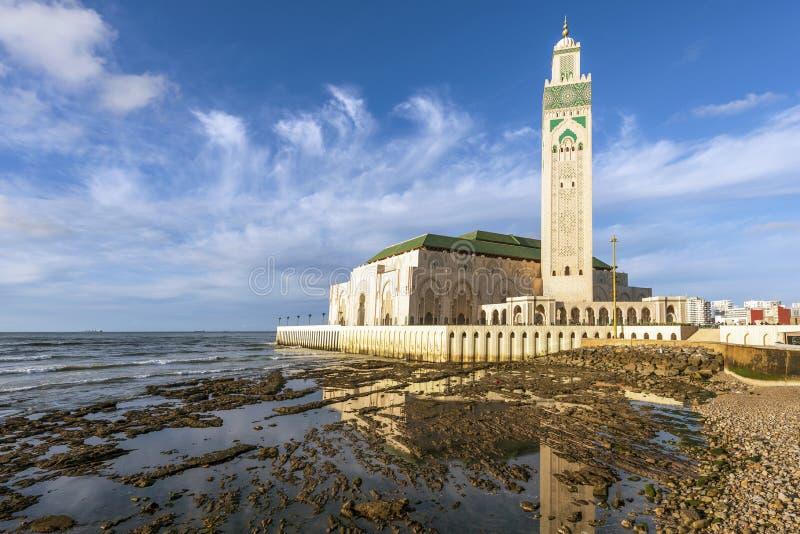 Mezquita de Hassan II, Casablanca, Marruecos imagenes de archivo