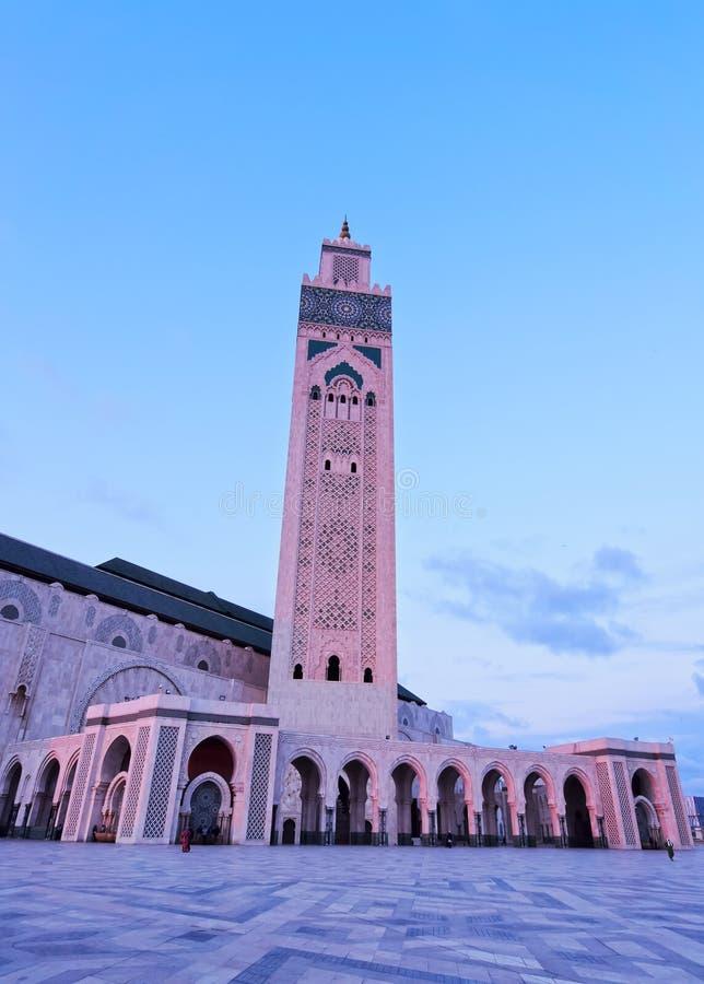 Mezquita de Hassan II en Casablanca fotos de archivo libres de regalías