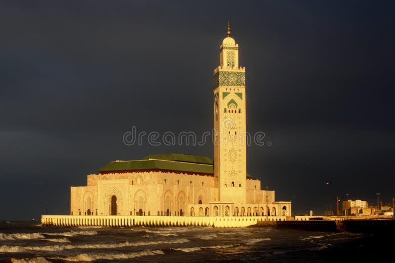 Mezquita de Hassan II en Casablanca fotografía de archivo libre de regalías