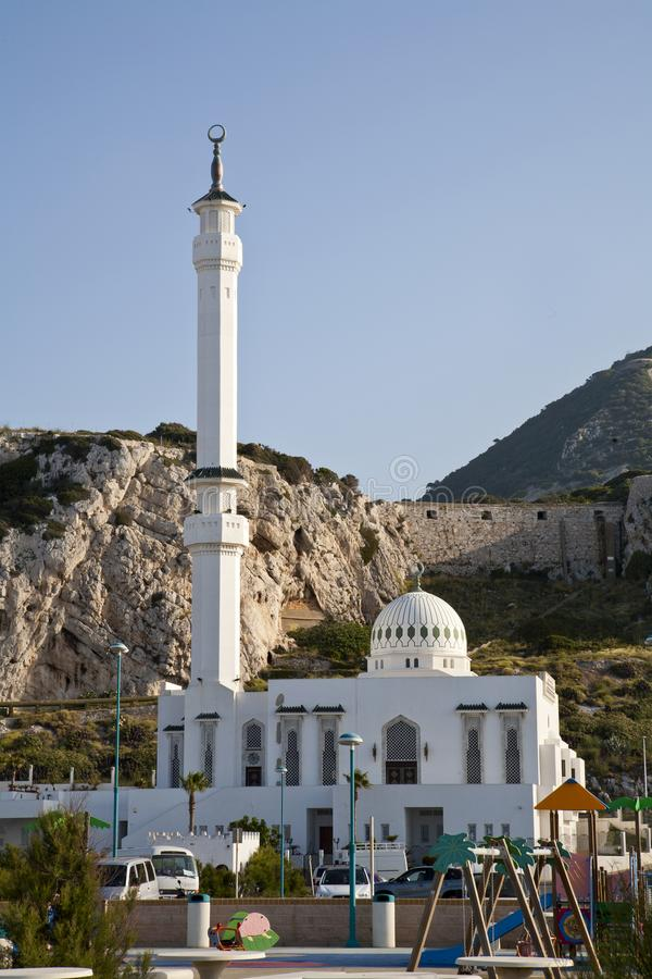 Mezquita de Ibrahim-al-Ibrahim en el punto del Europa fotografía de archivo libre de regalías