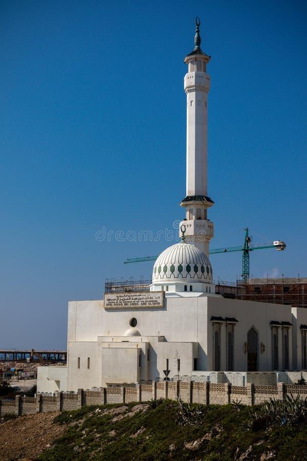 Mezquita de Ibrahim-al-Ibrahim, punto del Europa fotos de archivo