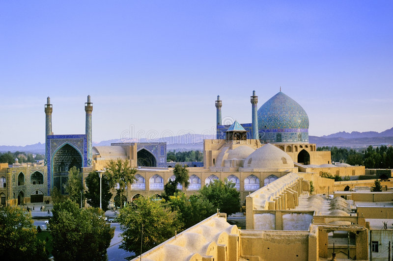 Mezquita de Isfahán imagenes de archivo