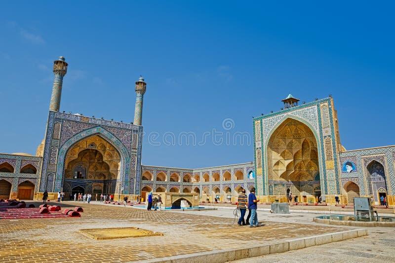 Mezquita de Jameh de Isfahán imagen de archivo