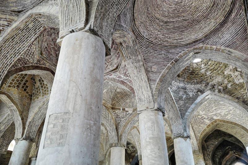 Mezquita de Jameh de Isfahán imágenes de archivo libres de regalías