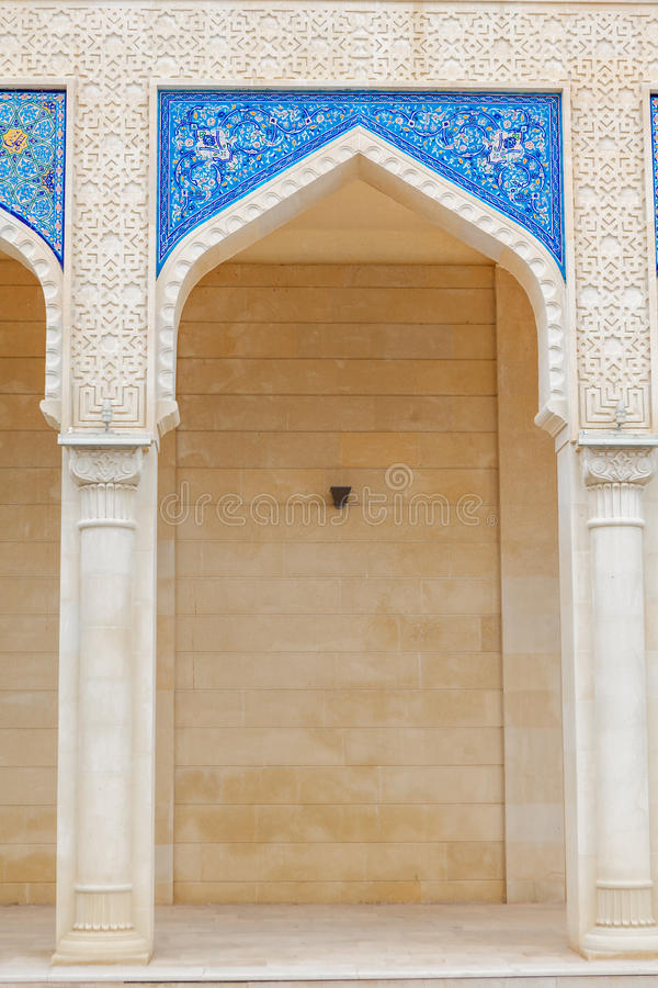 Mezquita de Juma, Samaxi Cume Mescidi, en Shamakhi, Azerbaijan foto de archivo libre de regalías
