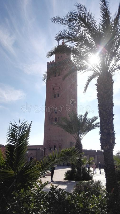 Mezquita de Koutoubia imagenes de archivo