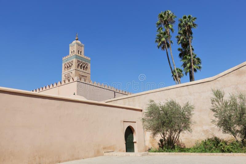 Mezquita de Koutoubia en Marrakesh. imagen de archivo