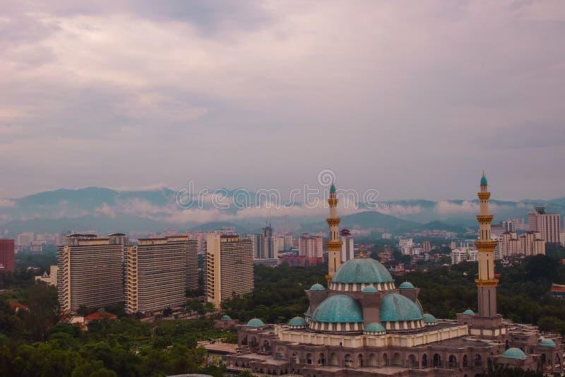 Mezquita de Kuala Lumpur Skyline Federal Territory fotografía de archivo