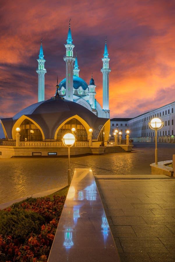 Mezquita de Kul Sharif Ciudad de Kazán, Rusia imagen de archivo libre de regalías