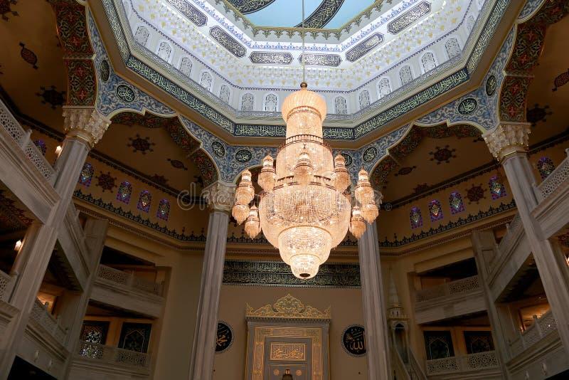 Mezquita de la catedral de Moscú (interior), Rusia -- la mezquita principal en Moscú, nueva señal fotografía de archivo