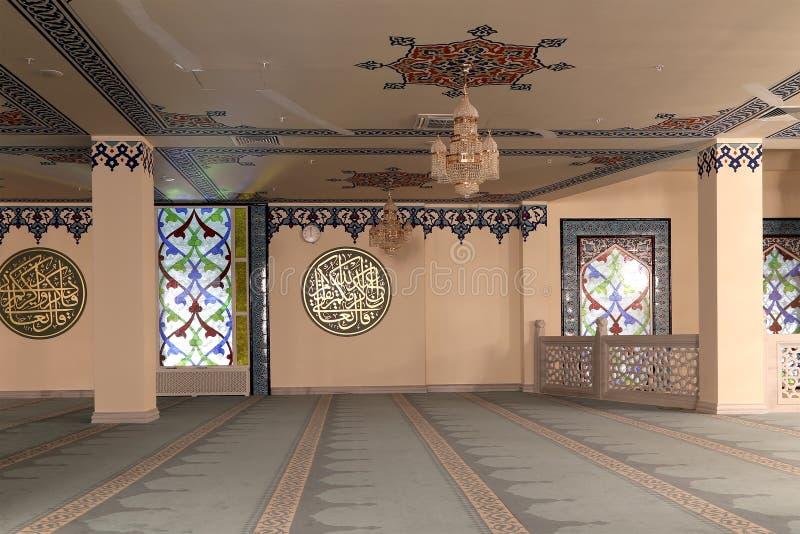 Mezquita de la catedral de Moscú (interior), Rusia -- la mezquita principal en Moscú, nueva señal fotos de archivo libres de regalías