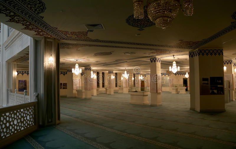 Mezquita de la catedral de Moscú (interior), Rusia -- la mezquita principal en Moscú, nueva señal foto de archivo