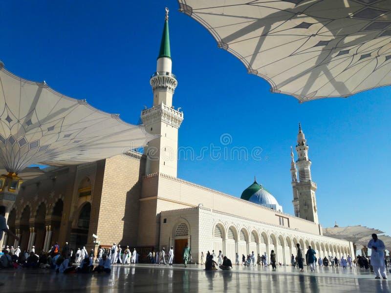 Mezquita de Nabawi en Medina fotografía de archivo libre de regalías
