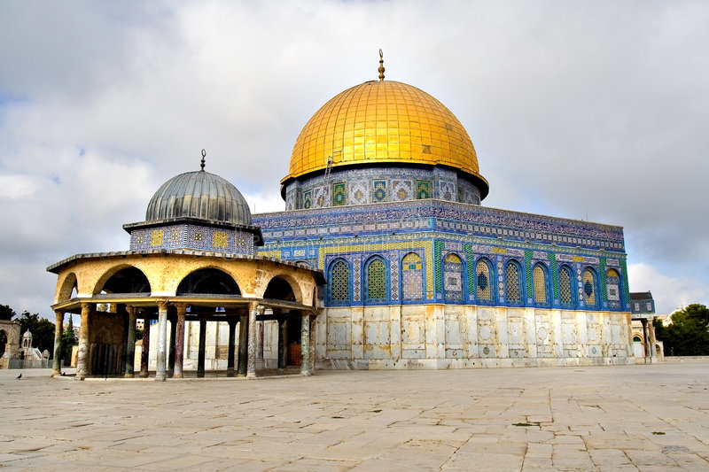 Mezquita de oro de la bóveda de Jerusalén fotos de archivo