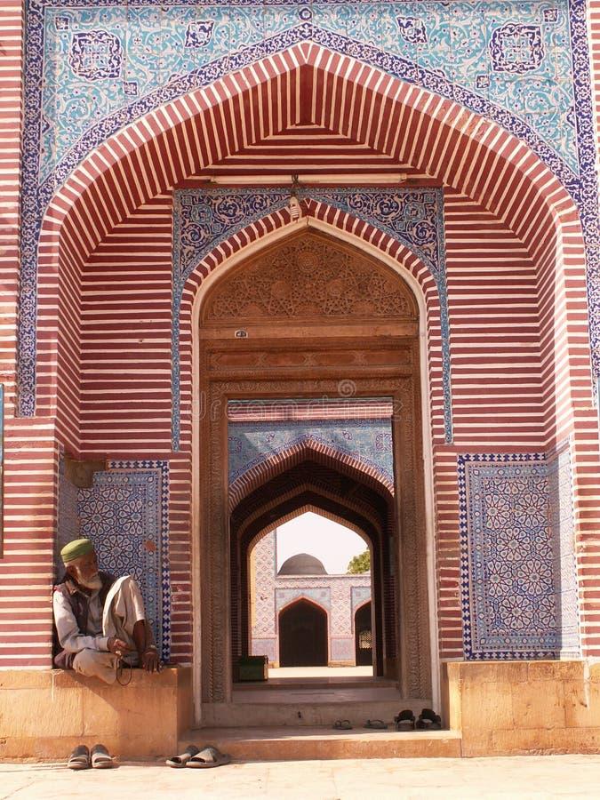 Mezquita de Shah Jahan, Thatta imágenes de archivo libres de regalías