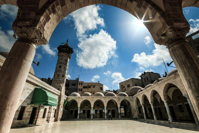 Mezquita de Sr. Hashem en la ciudad de Gaza imagenes de archivo