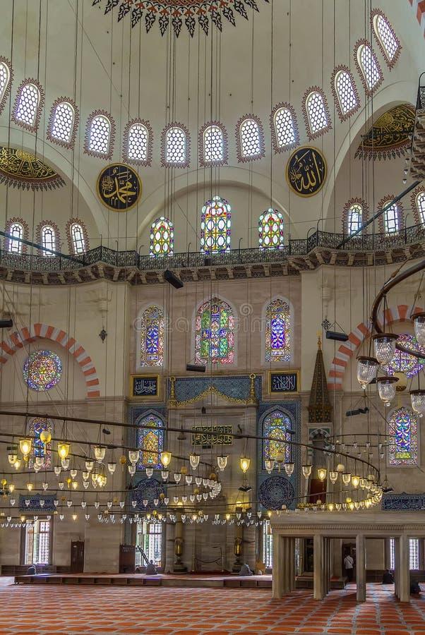 Mezquita de Suleymaniye, Estambul fotografía de archivo libre de regalías