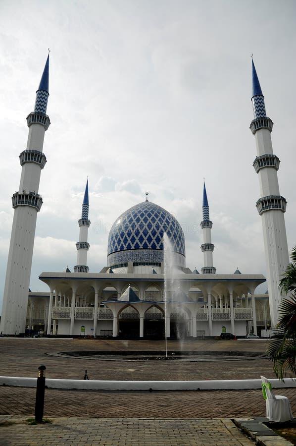 Mezquita a de Sultan Salahuddin Abdul Aziz Shah K un Sah Alam Mosque fotos de archivo libres de regalías