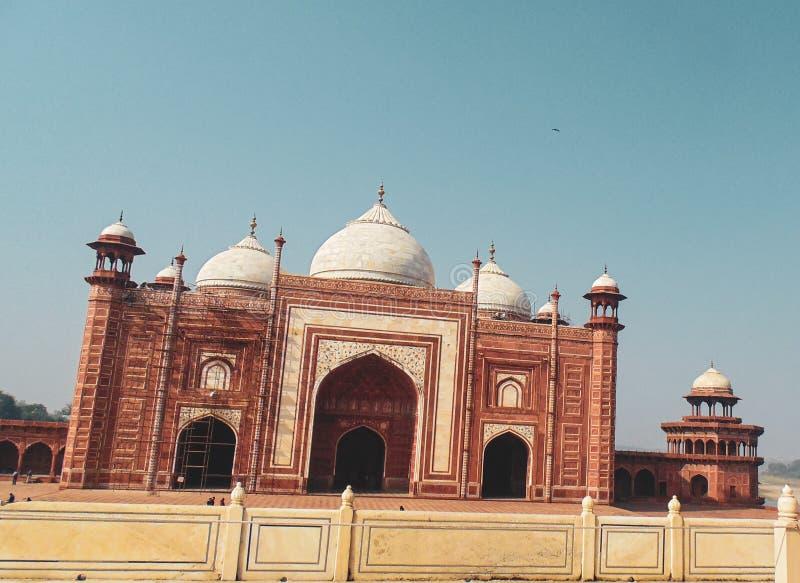 Mezquita de Taj Mahal en Agra, la India imagen de archivo libre de regalías