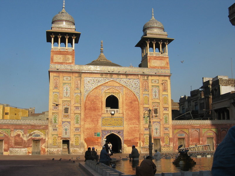 Mezquita de Wazir Khan foto de archivo libre de regalías