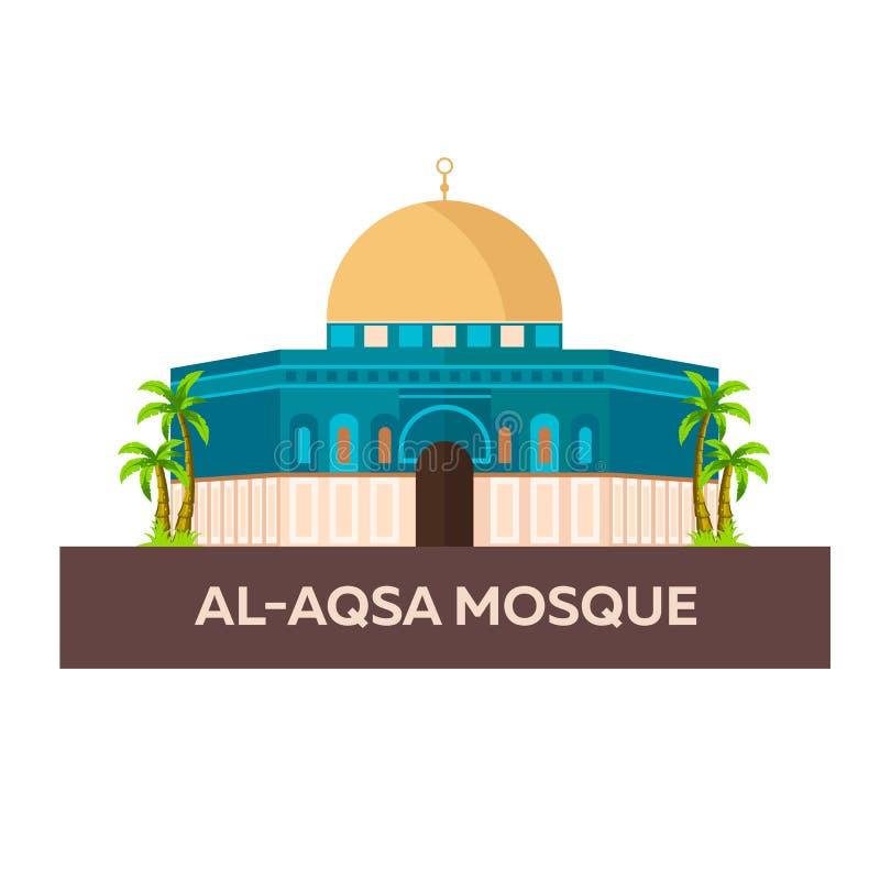 Mezquita del al-Aqsa Israel, Jerusalén Ejemplo plano del vector libre illustration