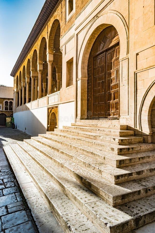Mezquita del al-Zaytuna en Túnez, Túnez foto de archivo libre de regalías