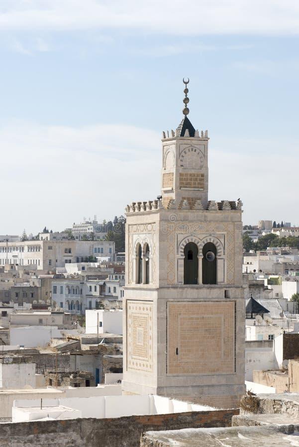 Mezquita del al-Zaytuna, Túnez foto de archivo