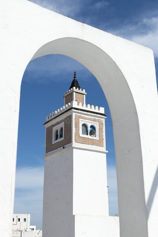 Mezquita del al-Zaytuna, Túnez imagen de archivo libre de regalías